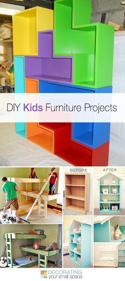 DIY Kids Furniture Projects • Lots of ideas & tutorials! fun kids crafts, kid ideas, #kids #diy kids diy ideas