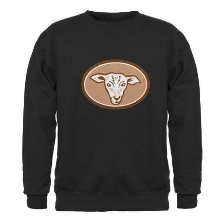 Sheep Head Oval Cartoon Sweatshirt