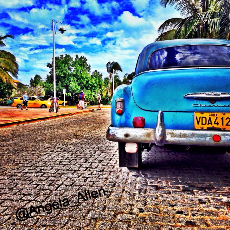 Old cars are everywhere in Cuba