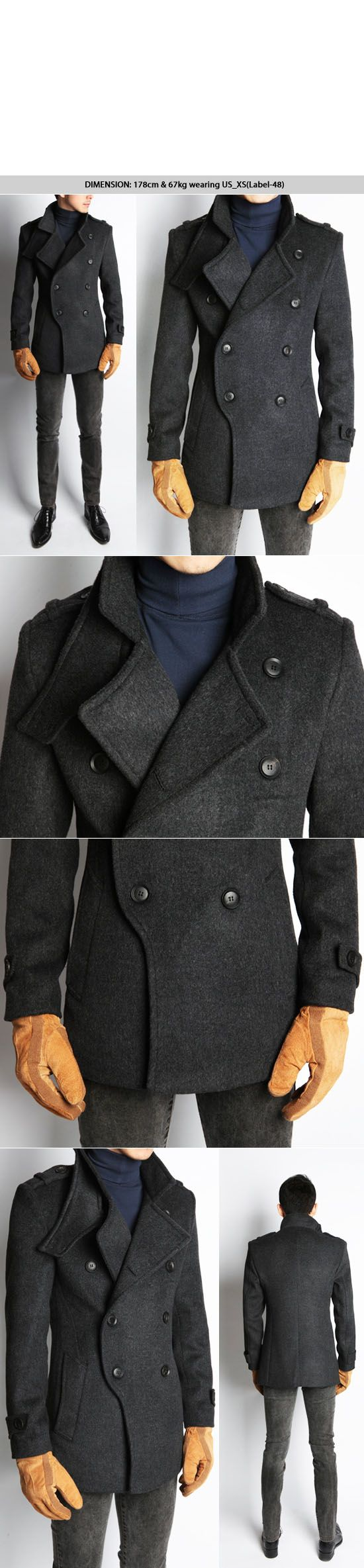 Outerwear :: Coats :: Re)Uber-sleek Highneck Cashmere Wool-Coat 27 - Mens Fashion Clothing For An Attractive Guy Look