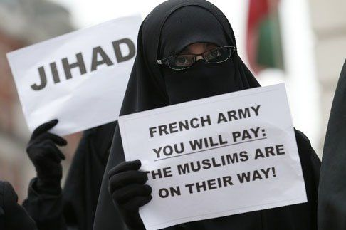 French Army You Will Pay. Such a decent way to treat a country that allowed you to live there. I think they insult their own.