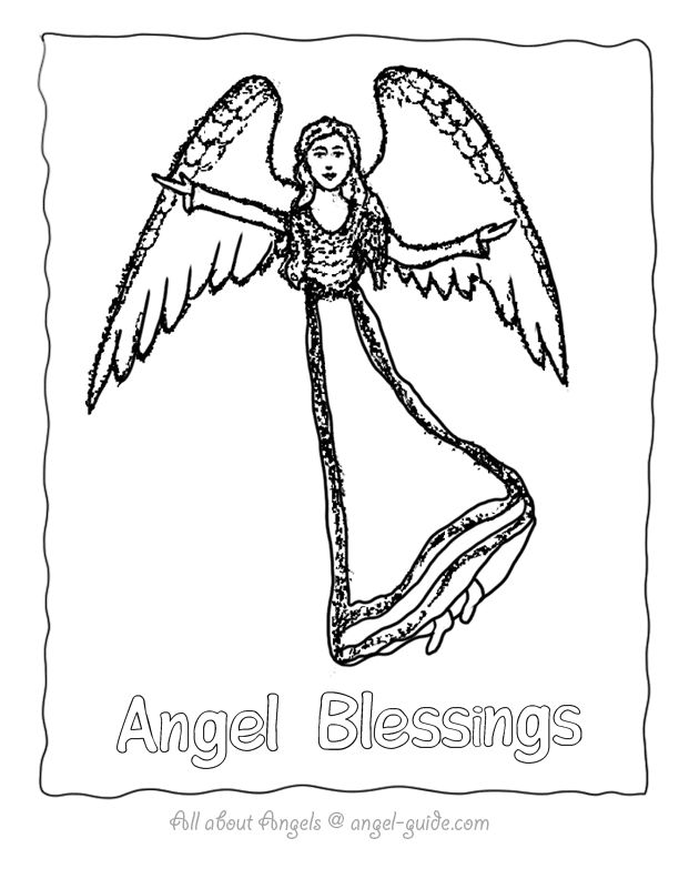 55 best ♥ Angel Drawings to Color images on Pinterest | Angel ...