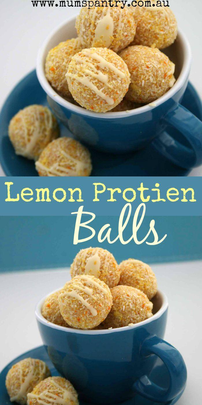 Lemon Protein Balls - Mum's Pantry