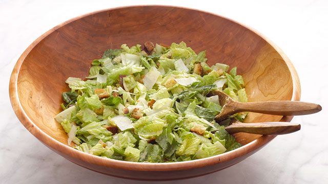 Make this caesar salad recipe from the salads episode of Martha Stewart's Cooking School on PBS Food.