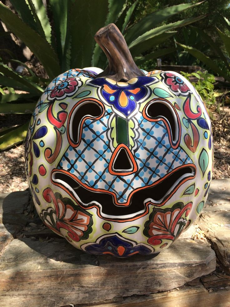 18 Quot Talavera Lantern Pumpkin 119 99 Available In Store
