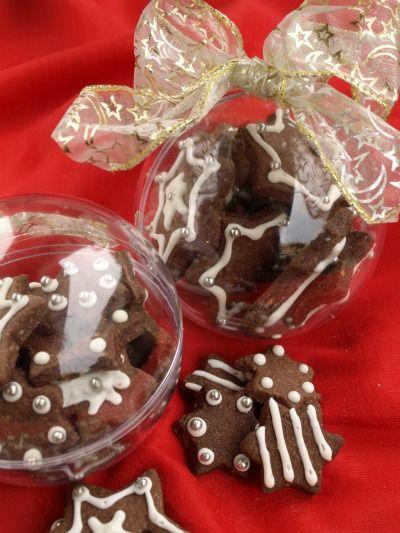 Biscotti nelle palline di Natale... Geniale idea regalo!