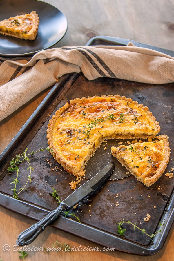 Caramelised Onion Tart Recipe | from @Jenn L Delicieux