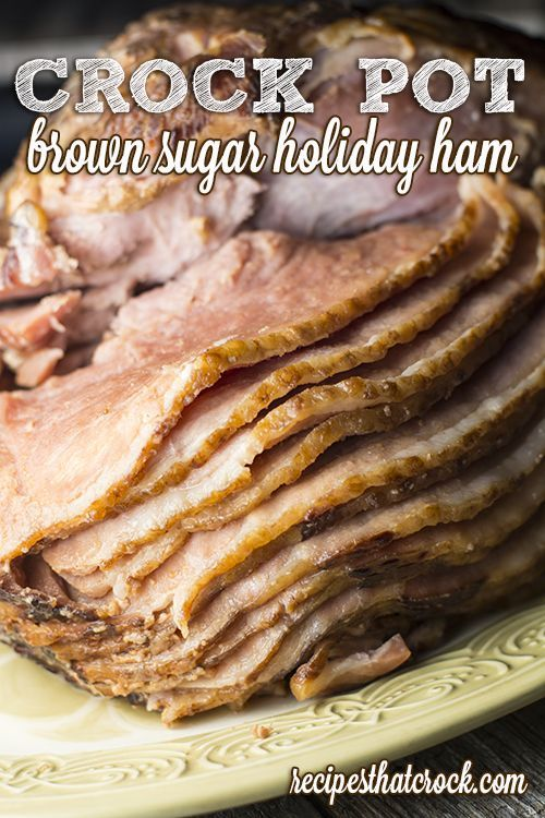 One of our very favorite Crock Pot Ham Recipes. Great for spiral or regular cooked ham. Foolproof  way of cooking ham for the holidays.