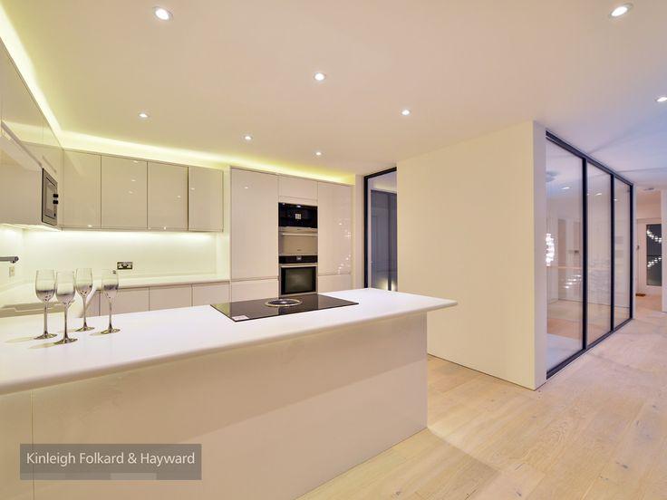 #kitchen #woodernfloor #white #glass #kfh