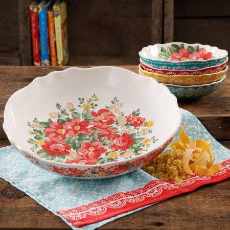 Buy The Pioneer Woman Vintage Floral 5-Piece Pasta Bowl Set at Walmart.com