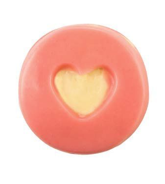 LUSH - NEW! Close To You massage bar ($10.90) This smooshable massage bar was inspired by the humble jammy dodger. As you peak through the heart shaped hole on top of the bar you can see into the sumptuous white fondant centre. Made with a luxurious blend of butters and oils, including cupuacu butter, shea butter and olive oil, this rich bar shares the same delicious vanilla fragrance as in Rock Star soap and Creamy Candy bubble bar. Guaranteed to bring someone special Close To You! (Vegan)
