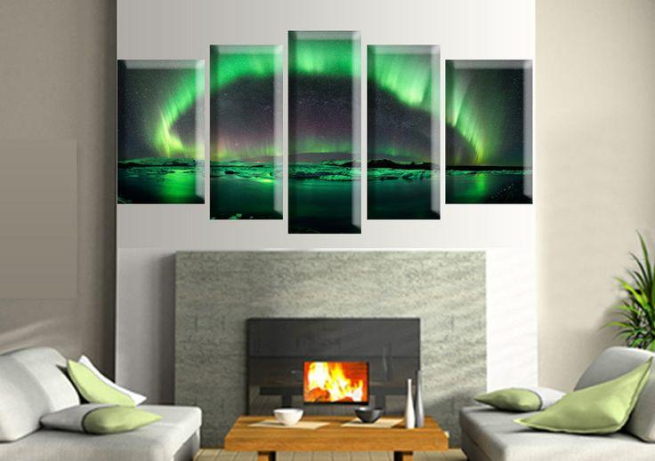 Tablou aurora 69004 Dimensiuni: 2x 30x50 - 2x 25x60 - 1x 25x70 cm Total: 135x70 cm