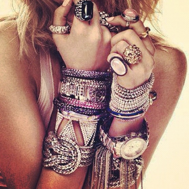 So much to love: Bling, Arm Candy, Fashion, Style, Bracelets, Jewelry, Jewels, Accessories