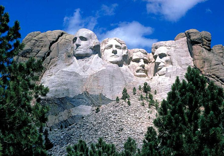 Mount Rushmore (mostly because of a certain movie)