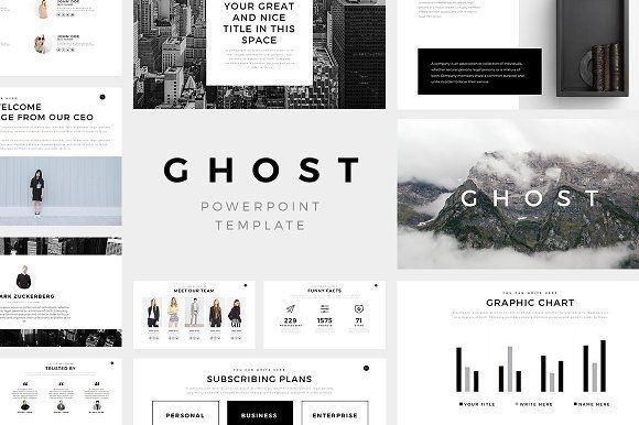 Ghost Minimal Powerpoint Template @graphicsmag
