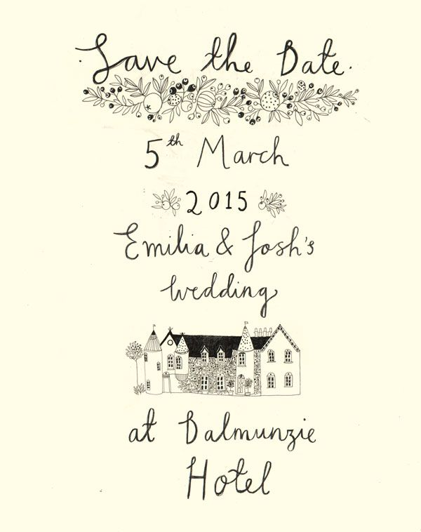 Save the date, design by Katt Frank. www.kattfrank.com