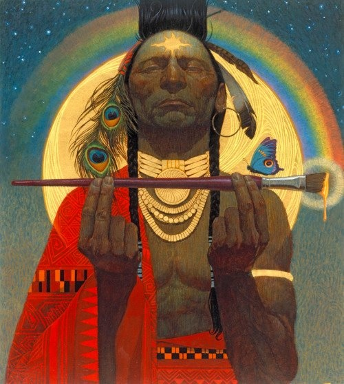 The supreme law of the land is the Great Spirit's law, not man's law. —Hopi [Indian Paint Brush, by Thomas Blackshear]