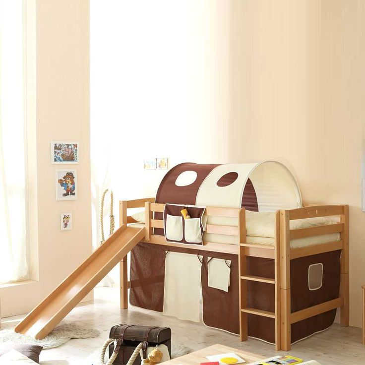 Stunning Kinderhochbett aus Buche Massivholz Braun Beige Jetzt bestellen unter https moebel ladendirekt de kinderzimmer betten hochbetten uid udbcf df