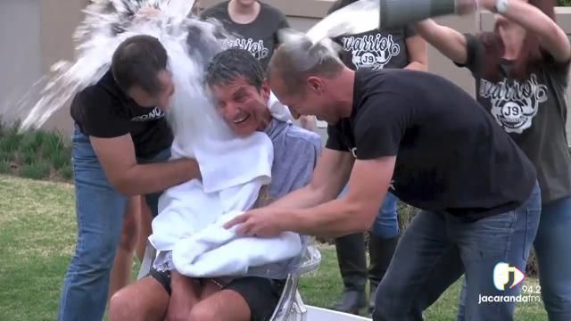 Joost van der Westhuizen takes the ice bucket challenge