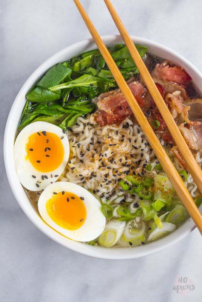 Any easy way to upgrade your instant ramen? Add bacon because bacon makes everything better.