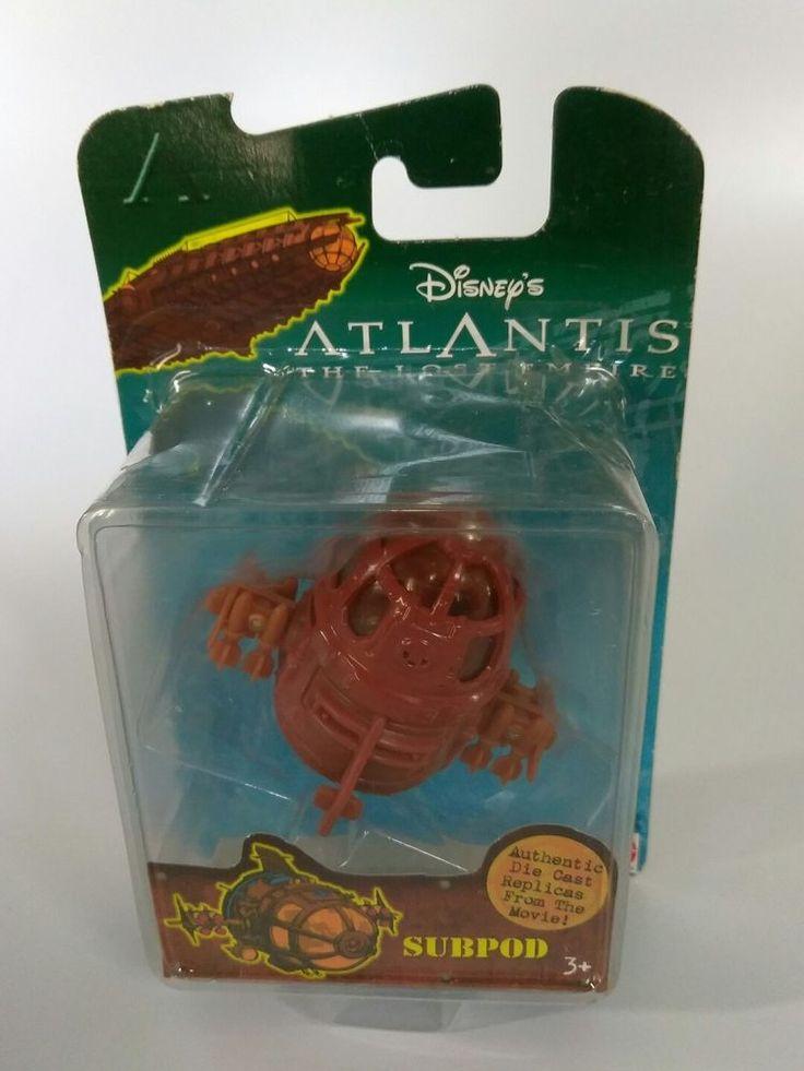 SUBPOD From Atlantis The Lost Empire Movie Toy Mattel Disney 2000 - RARE!  NEW! #Disney