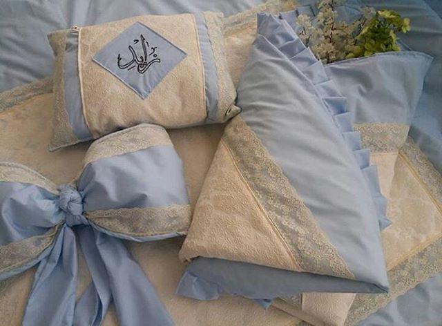 اخر قطعه Artideassh جاهزه للتسليم الفوري استقبلي بها مولودك ونسقي غرفتك في المستشفي بهذا الطقم المميز رحبي بضيوفك وانتي في ابهي Pillows Throw Pillows Bed