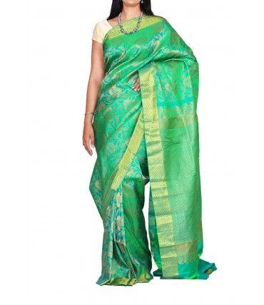 Kanjeevaram Pure Silk Saree ----------------------Grab the second look in this elegant and graceful saree . --------------------------------------------Sarees from Luxurionworld