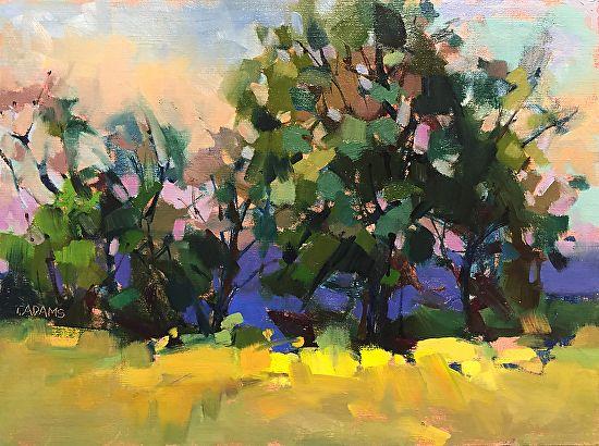 Buttercup Field by Trisha Adams Oil ~ 12 x 16