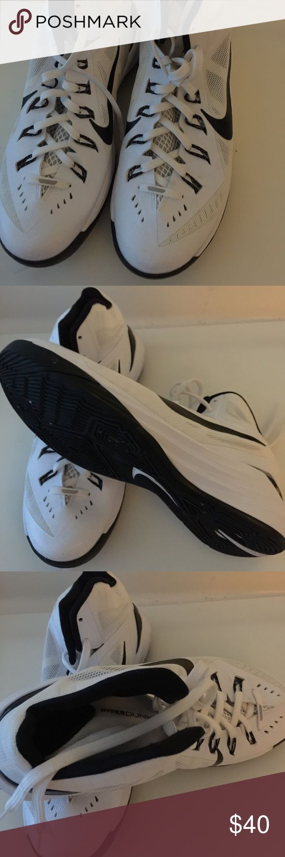 ‼️Closet Clearance ‼️Nike Hyperdunk TB Basketball ‼️Closet Clearance ‼️Nike Men's Hyperdunk 2014 TB Basketball Shoes White / Black 653483 -100 in almost New preowned condition. Size:11 Nike Shoes Sneakers