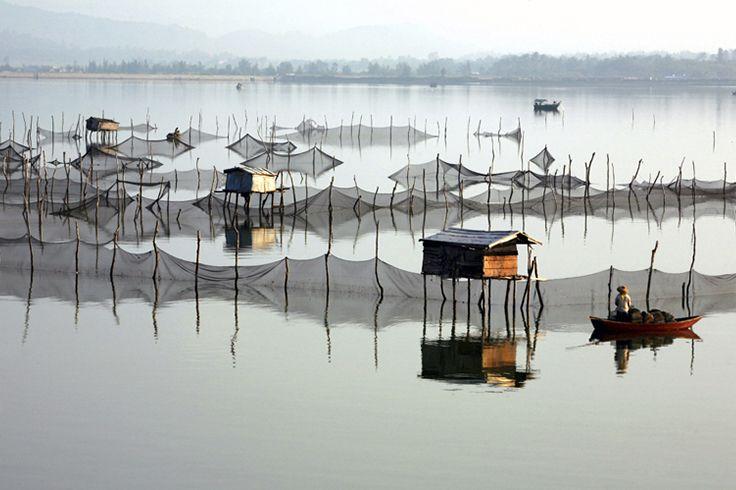 The life of #fishermen in #Sanya could be written into a poem. #China #SanyaRepin #SanyaHeartstoHearts #Whererefreshingbegins #Culture #Reflection #Fishing