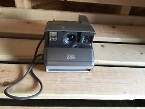 Polaroid One600 ONE 600 silver Instant Film Camera TESTED WORKS FAST SHIPPING