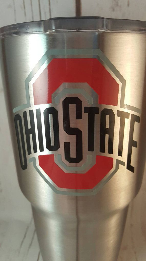 Check out this item in my Etsy shop https://www.etsy.com/listing/456801402/ohio-state-university-decal-yeti-cup