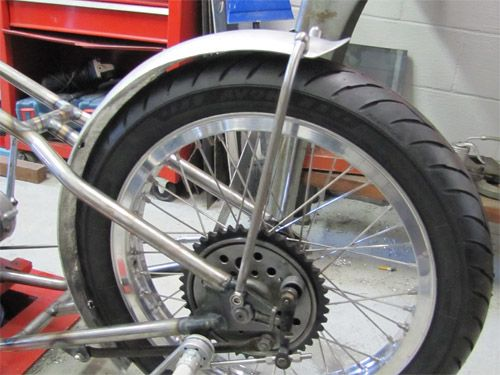 How To Mount A Custom Rear Motorcycle Fender - Part 2 | Lowbrow Customs / Tech
