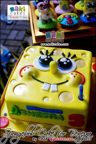maki cakes   Spongebob Cake for Benezra - Maki Cakes   Flickr - Photo Sharing!