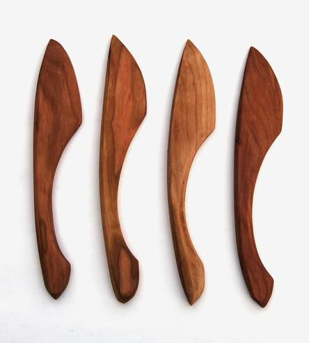Inspired by Scandinavian butter knives, these wood spreaders are minimal, tactile and tablescape-ready. Don't be surprised if you find yourself using them often, very often—schmears, soft cheeses, butter, jams, pâté all call for a fancy spreader.