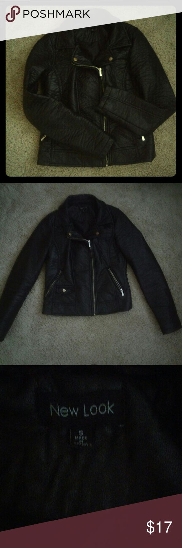 New Look Biker Leather Jacket Like new and 100%leather. Its very stylish New Look Jackets & Coats