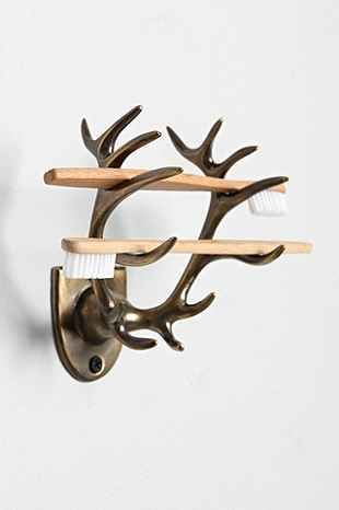 Antler Toothbrush Holder - 4040 Locust  @ Urban Outfitters  $18