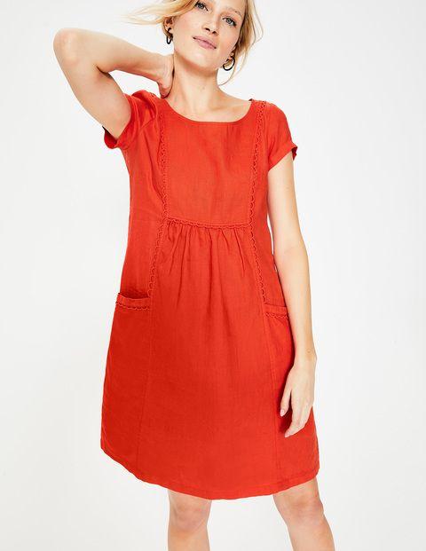 V Neckline dress Bengi design Elegant linen dress Wrap linen dress