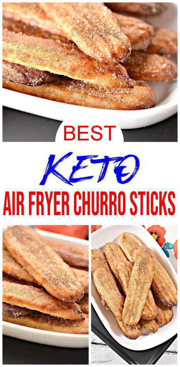 BEST Keto Churro Sticks! Low Carb Air Fryer Churro Idea