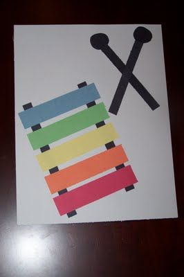 Easy Preschool Craft - change (either number bars or make from large to small to work on sequencing)