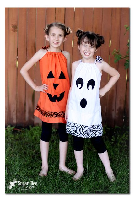 Easy DIY Halloween Pillowcase Dresses