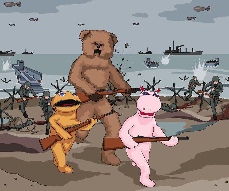 Normandy Landings Rainbow - Jim'll Paint It
