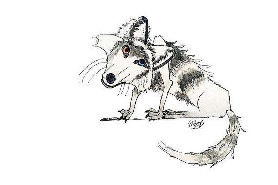 Wolf cartoon wild life illustration book by littlelemontreeart