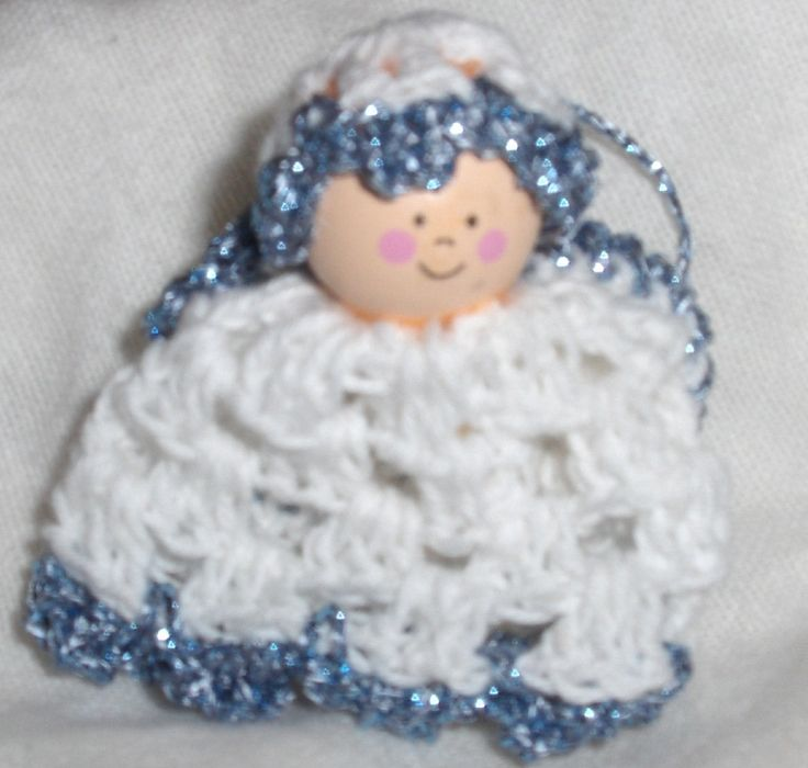 crocheted angel, baby shower ange, baby shower decor, christmas angel, baby angel by Hildescrochetshop on Etsy
