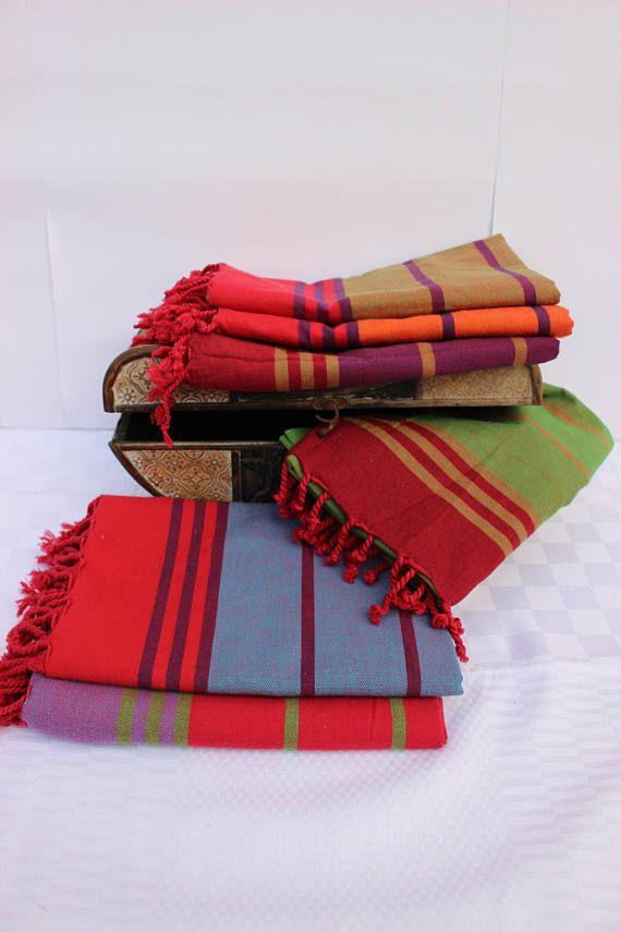 Turkish Towel Beach Towel Lightweight Towel Hammam Towel Multicolour Towel