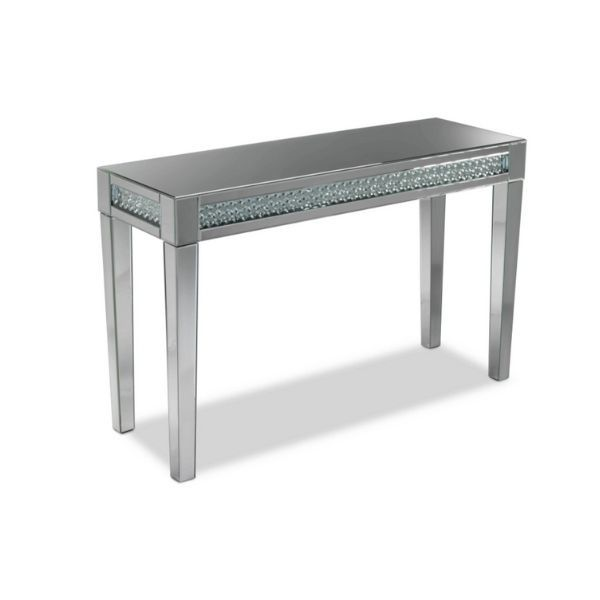 Aria Sofa Table Mirrored Glass Mirror Table Sofa Table Mirrored Glass