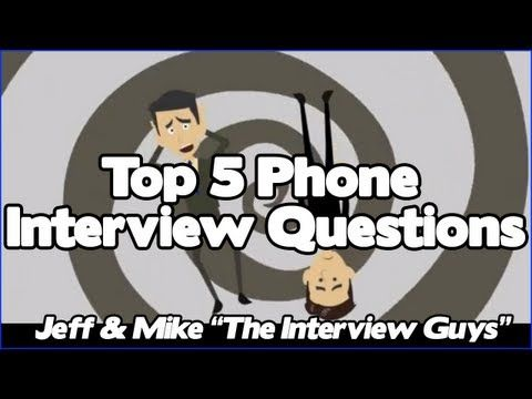 ▶ Phone Interview Questions - Top 5 Telephone Interview Questions You Have To Be Ready For - YouTube