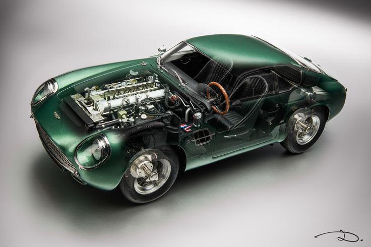 Aston Martin DB4 GT Zagato by CMC in 1:18th scale - See-through photo