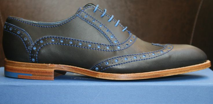 Barker Grant in Black/Classic Blue Calf available at http://www.robinsonsshoes.com/barker-grant.html