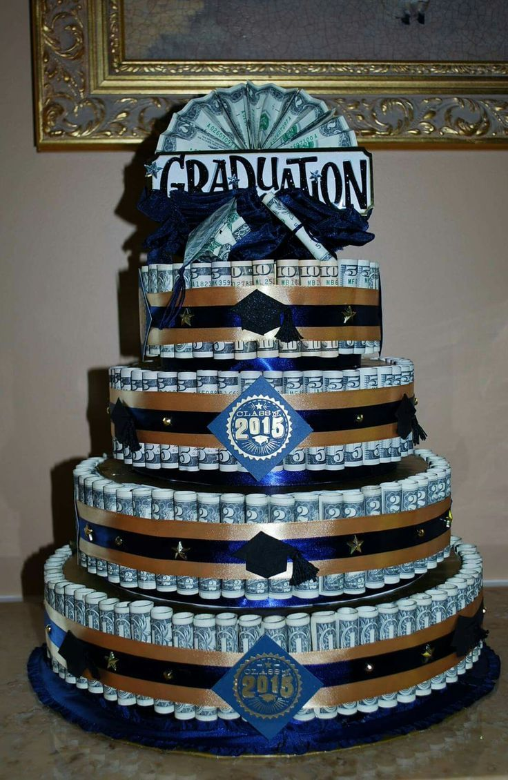 money cake i made for chris u0026 39  high school graduation